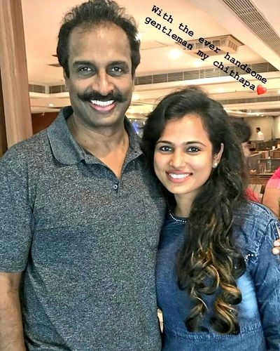 Ramya Pandian With Her Uncle