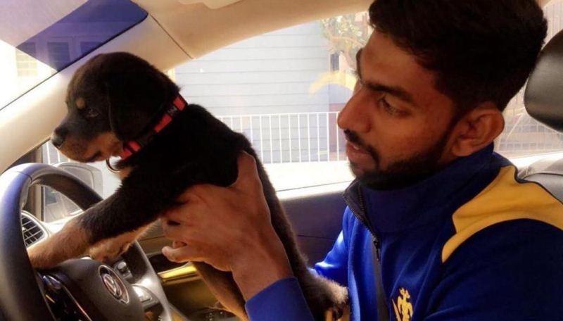 Jagadeesha Suchith with his dog, Ben