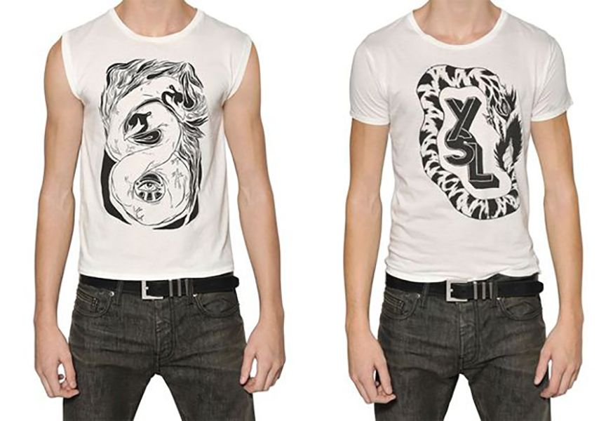 capsule collection of T-shirts for Saint Laurent