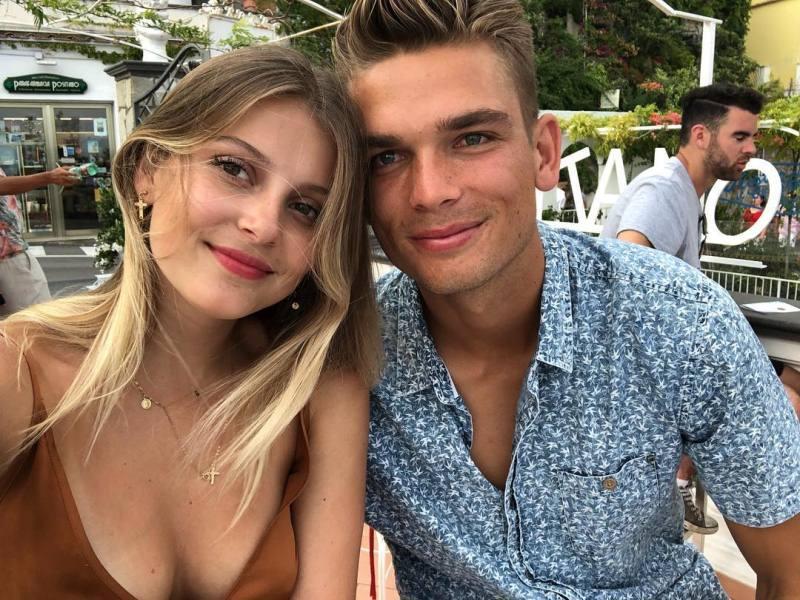 Chris Green with his girlfriend, Bella Wagschall