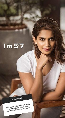 Samyuktha Karthik's Post About Height
