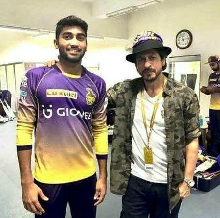 Sanjay Yadav with KKR owner Shah Rukh Khan