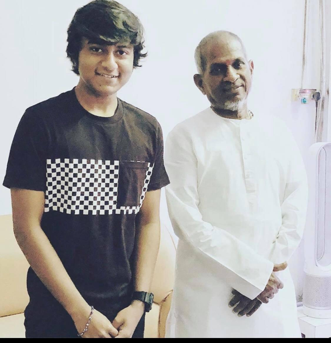 Aajeedh Khalique with his music guru