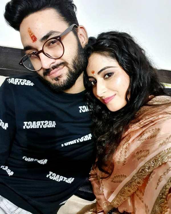 Aishwarya Sharma with her brother