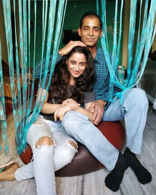 Aishwarya Sharma with her father