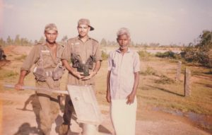 First from left, Gaurav Arya during his training days in 1993