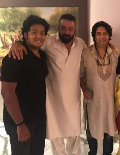 Dhruv Verma with His Father Vikas Verma and Sanjay Dutt