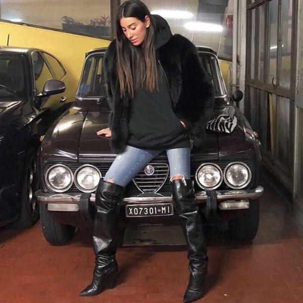 Giorgia Gabriele with her Car