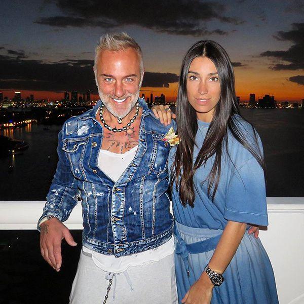 Giorgia Gabriele with Gianluca Vacchi