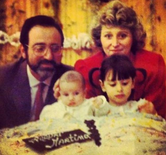 Giorgia Gabriele with her Parents and Sister