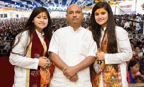 Devi Nidhi Saraswat With Her Father