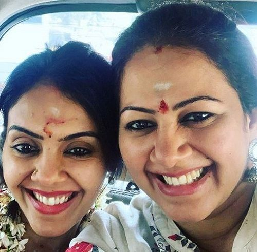 Archana Chandhoke With Her Sister