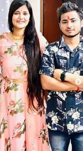 Devi Nidhi Saraswat With Her Brother