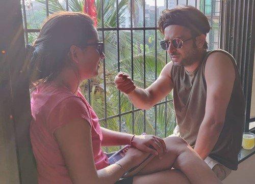 Nitin Mahesh Joshi with his sister, Nisha Joshi