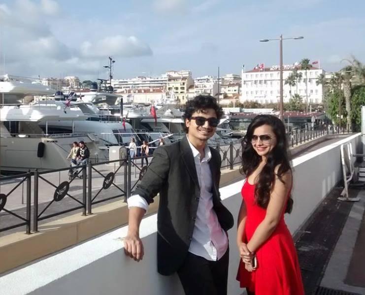 Priyanshu Painyuli with his girlfriend