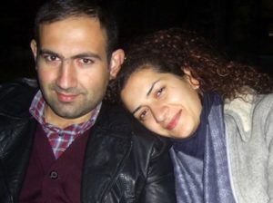 An old picture of Anna Hakobyan with her husband Nikol Pashinyan