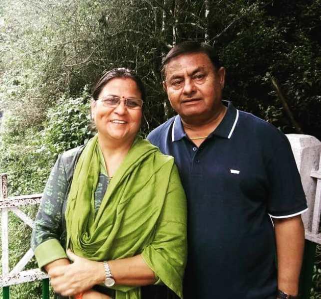 Prashansa Sharma's parents