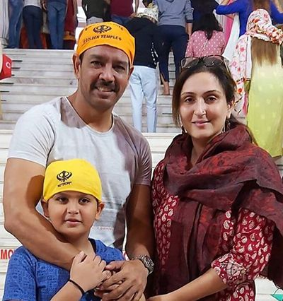 Anup Soni with his Wife and Son