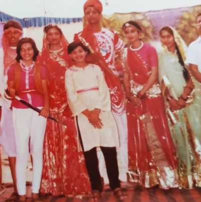 Anup Soni (First from Left) in his School Play