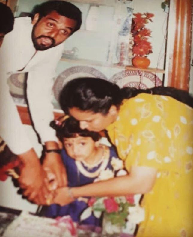 Sanam Shetty in childhood