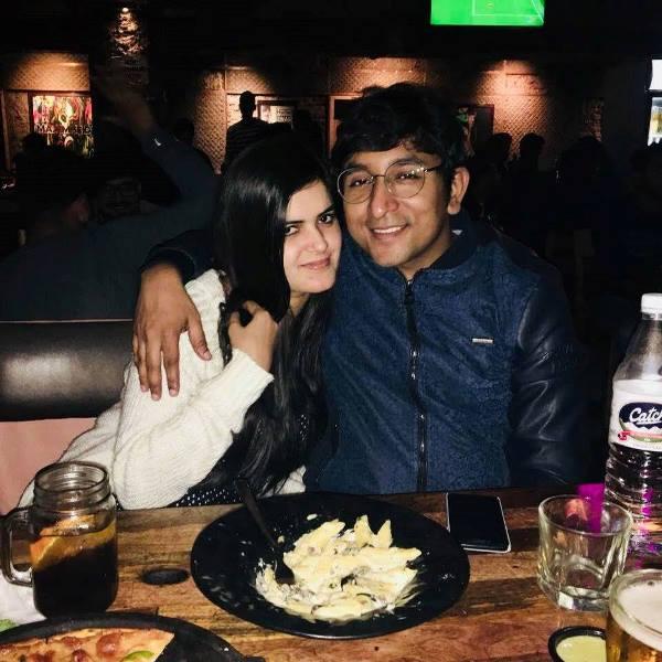 Appurv Gupta with his girlfriend