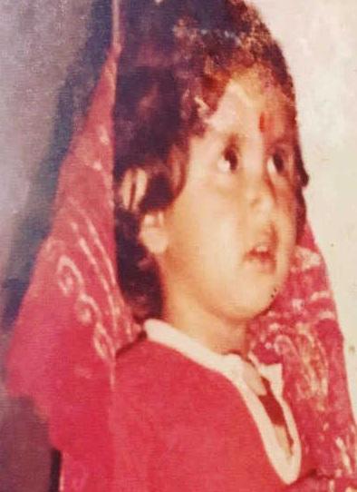 Kavita Kaushik in childhood