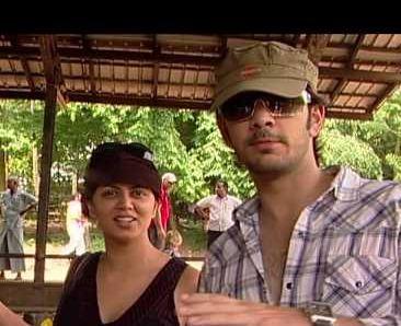 Kavita Kaushik with Karan V Grover