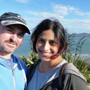 Priyanca Radhakrishnan with her husband