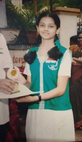 Anitha Sampath in her school days