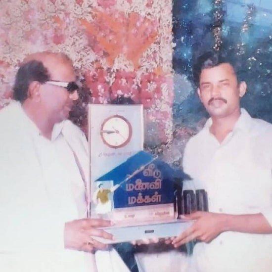 Anitha Sampath's father