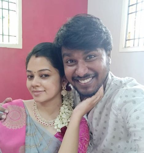 Anitha Sampath with her husband