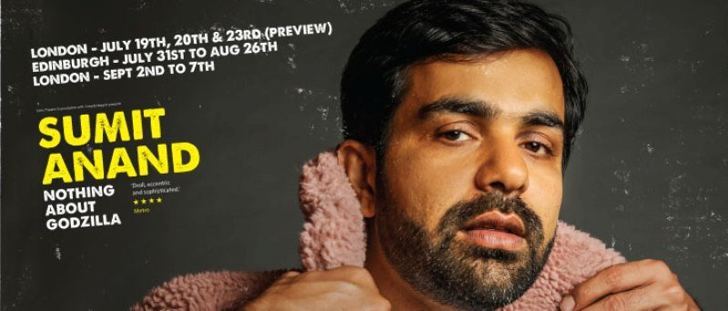 Sumit Anand's show poster at the Edinburgh Festival Fringe