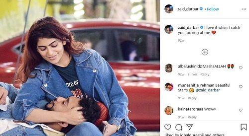 Zaid Darbar With His Rumoured Ex-Girlfriend