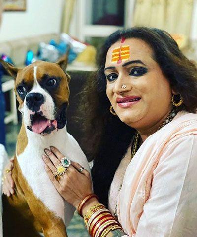 Laxmi Narayan Tripathi with her Pet