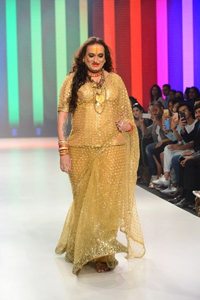 Laxmi Narayan Tripathi Walking the Ramp at Bombay Times Fashion Week