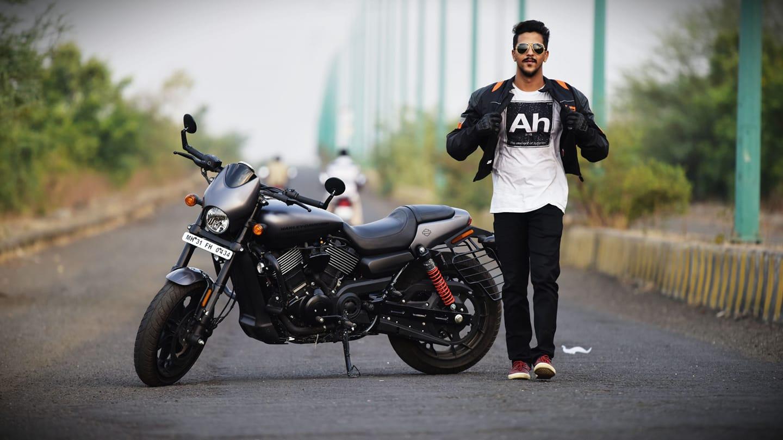 Abhinav Shekhar with his bike