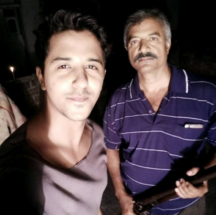 Abhinav Shekhar with his father