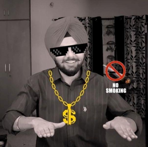 Jaspreet Singh's no smoking picture