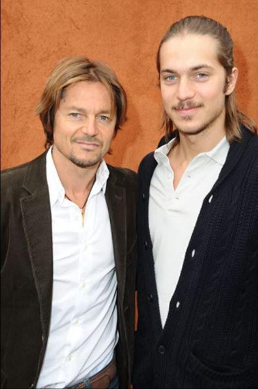 Lucas Bravo with his father Daniel Bravo