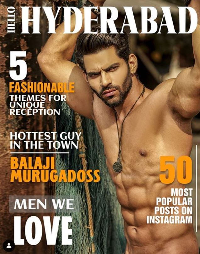 Balaji Murugadoss on the cover of the Hello Hyderabad Magazine