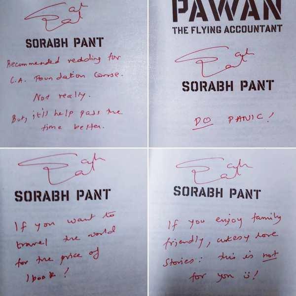 Sorabh Pant's autograph