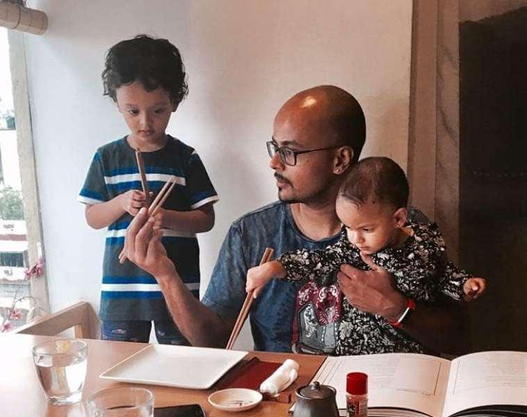 Sorabh pant with his kids