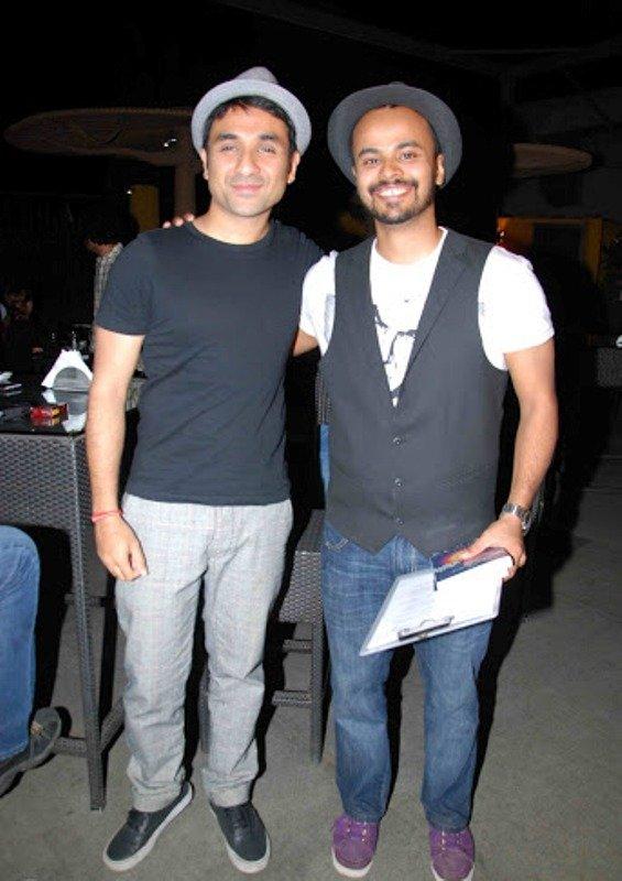 Sorabh with his mentor Vir