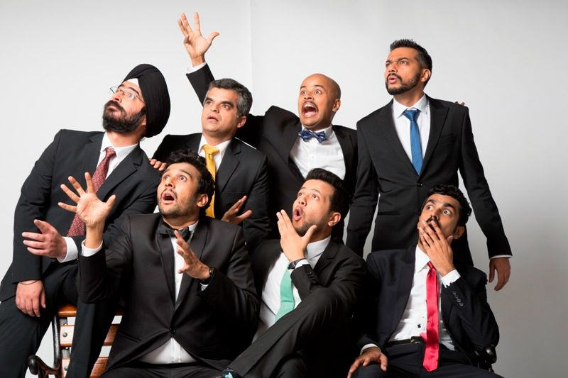 Sorabh Pant with other members of East India Comedy