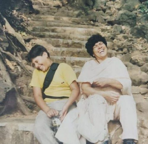 An Old Picture of Milind Chandwani With His Mother