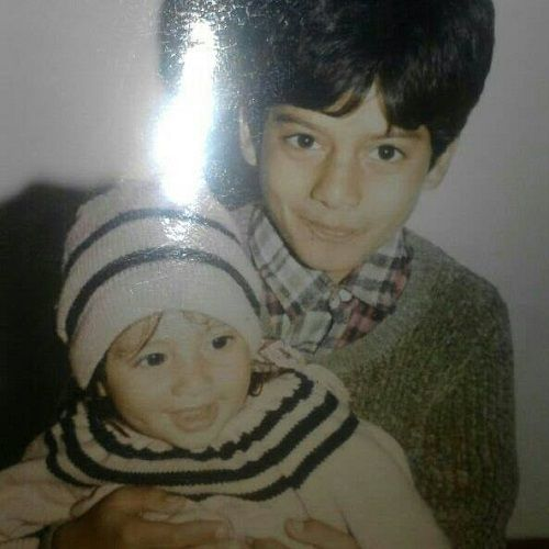 A Childhood Picture of Milind Chandwani and His Brother