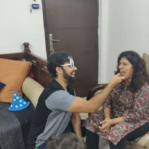 Milind Chandwani With His Mother