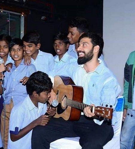 Milind Chandwani With NGO Kids
