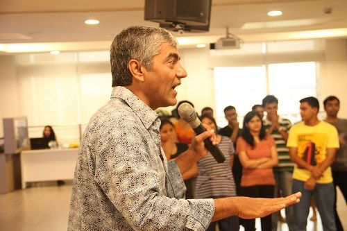 Asif Basra During an Acting Workshop