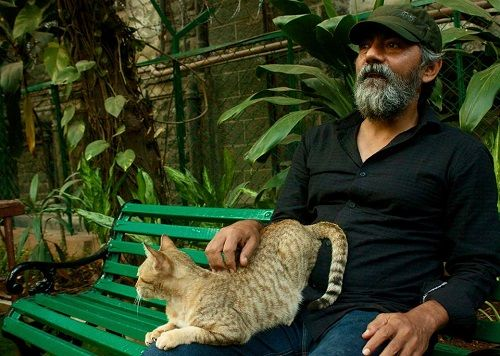 Asif Basra With a Cat